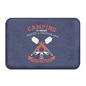 Camping frinds nubes tostadas vacaciones Bienvenido Mat Felpudo al aire libre Funny