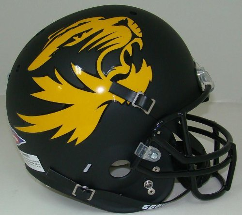 NCAA Missouri Tigers Replica Helmet - Alternate 1 (Matte/Black)