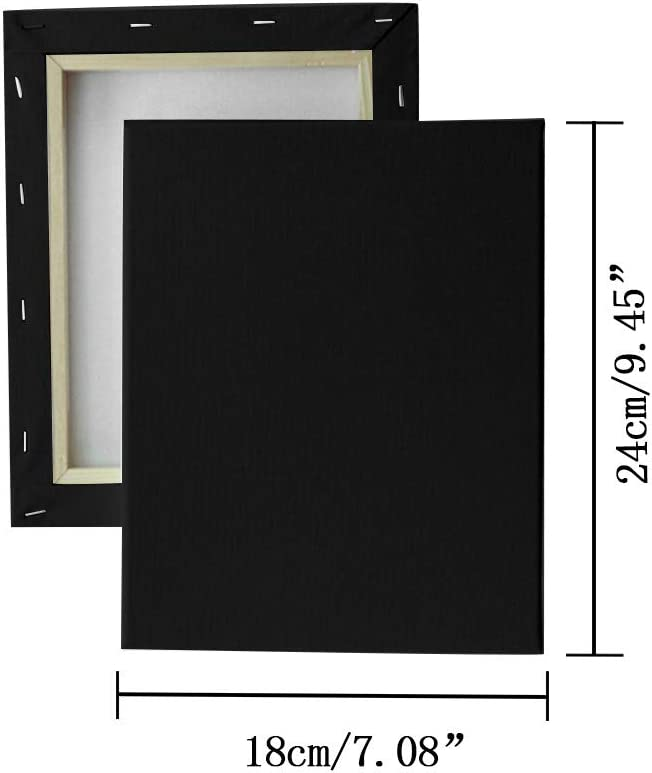 15/×15cm Square Stretched Art Canvas Boards for Acrylic Oil Painting,100/% Cotton,Canvases for Hobby Painters /& Beginner CUEYU Mini Blank Artist Black Canvas Frame