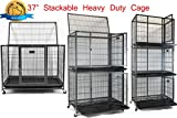 Homey Pet 37″ Heavy Duty Metal Open Top Cage w/Floor Grid, Casters and Tray Review