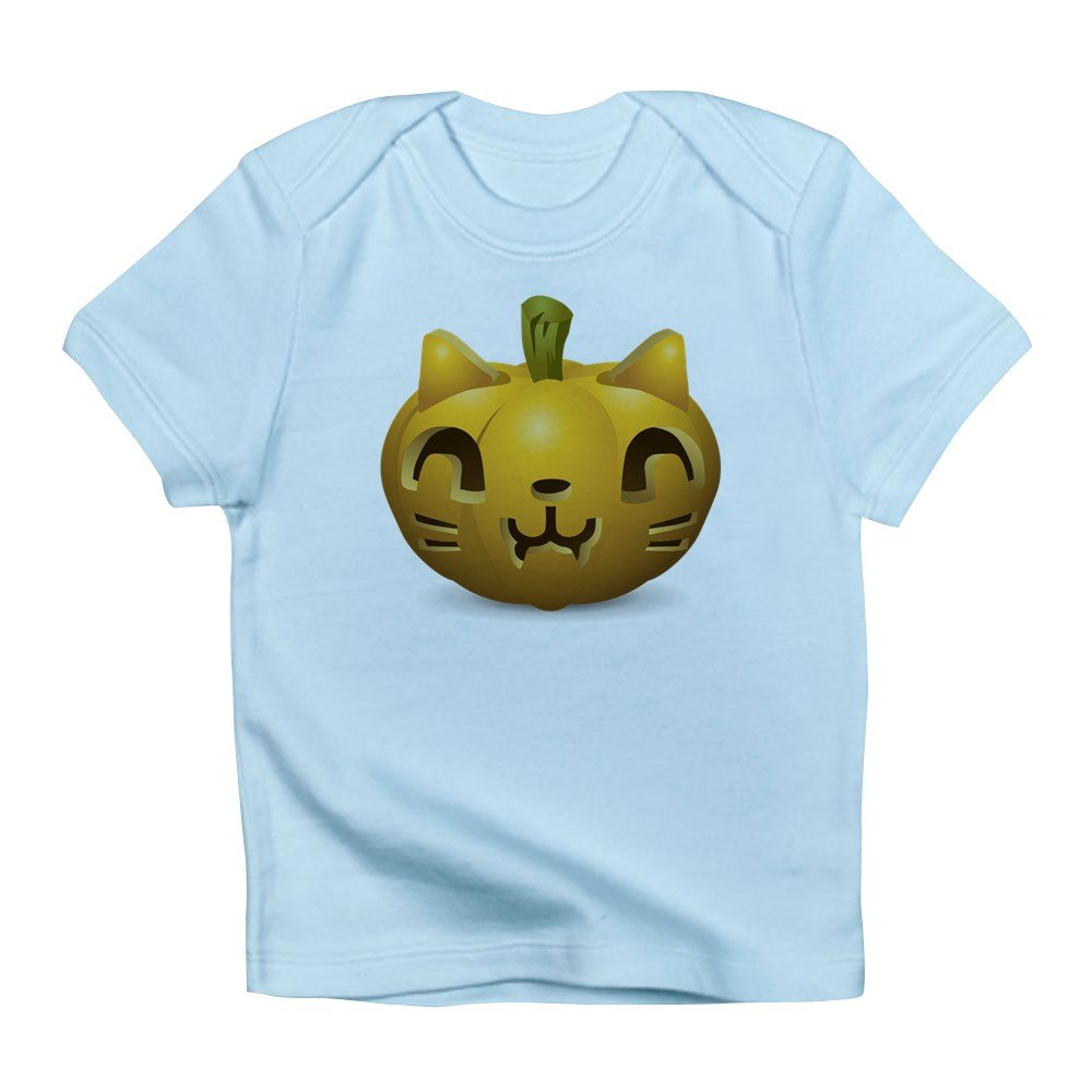 Sky Blue Truly Teague Infant T-Shirt Kitty Cat Halloween Jack-O-Lantern 6 To 12 Months