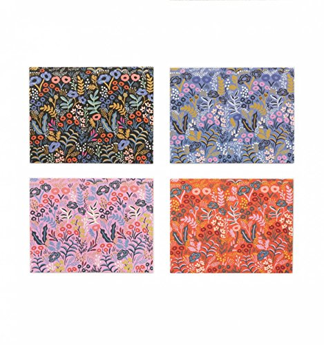Tapestry Assorted Notecards by Rifle Paper Co. -- Set of 8 Cards and Envelopes