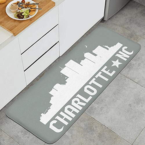Charlotte North Carolina Skyline NC City Non-Toxic Extra Support And Thick,Kitchen And Office Standing Desk For Home Standing Pad (47.2 x 17.7 Inch) (In Nc Charlotte Furniture)