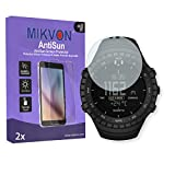 MIKVON 2X AntiSun Screen Protector for Suunto Core All Black - Retail Package with Accessories
