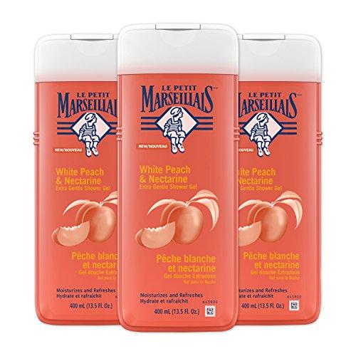 Le Petit Marseillais Extra Gentle Shower Gel, White Peach & Nectarine, 13.5 Fluid Ounce (Pack of 3)