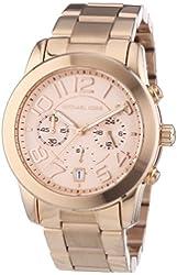 Michael Kors MK5727 Women's Mercer Rose Gold-Tone Stainless Steel Bracelet Chronograph Watch