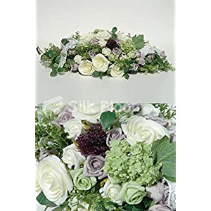 Luxury Green Snowball, Purple Dill, Lilac Rose TopTable Display 114