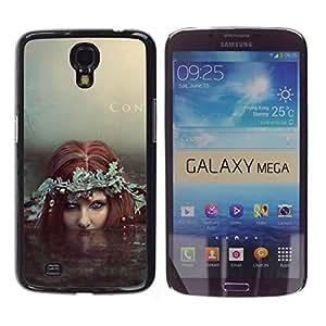 PC/Aluminum Funda Carcasa protectora para Samsung Galaxy Mega 6.3 I9200 SGH-i527 Fairy Redhead Siren Water Witch Mermaid / JUSTGO PHONE PROTECTOR