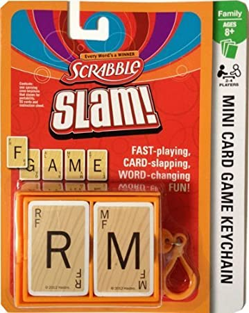 Amazon.com: Scrabble Slam. Mini llavero de juego de cartas ...