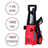 1950 PSI 1.45 GPM Electric High Pressure Washer with Detergent Tank (Red)