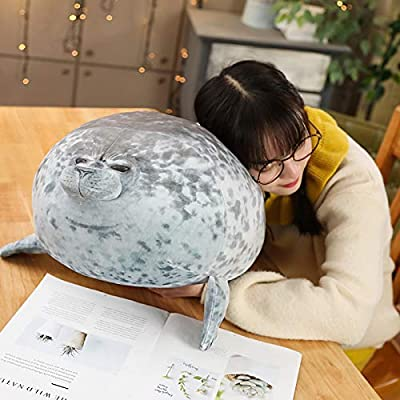 Alayger Chubby Seal Plush Sea Lion Pillow Stuffed Animal Pet Ocean Cuddle Sleeping Throw Pillow Soft Toy (11.8inch): Kitchen & Dining