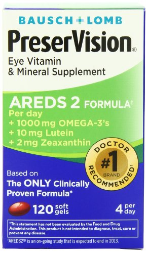 PreserVision Eye Vitamin and Mineral Supplement AREDS 2 Formula, 120-Count, Health Care Stuffs