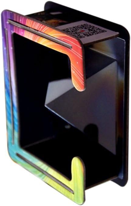 Jili en línea 2 unidades 360 ° Vista completa claro teléfono móvil 3d holográfica Pirámide de proyección prisma caja soporte soporte para todos los 3,5 – 6