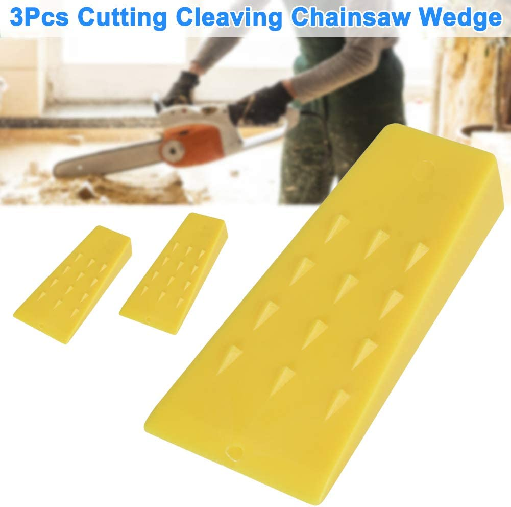 Finetoknow Tree Felling Wedges,3Pcs Tree Felling 5Inch Wedges for Logging Falling Cutting Cleaving Chainsaw