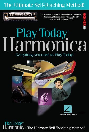 hal-leonard-703707-play-harmonica-today-complete-kit-with-book-cd-dvd-hohner-bluesband-harmonica
