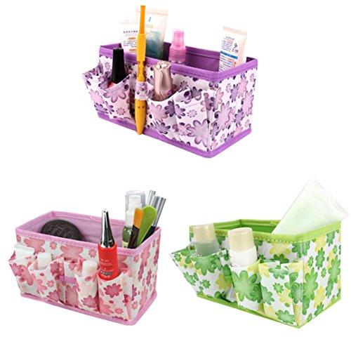 Binmer(TM)Hot Makeup Cosmetic Storage Box Bag Organiser Bright Foldable Stationary Container