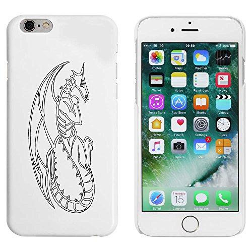 Weiß 'Drachen Kontur' Hülle für iPhone 6 u. 6s (MC00005342)