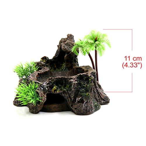 uxcell-Black-Resin-Lifelike-Tree-Trunk-Design-Food-Water-Bowl-Terrarium-Decor-Oranment-for-Reptiles