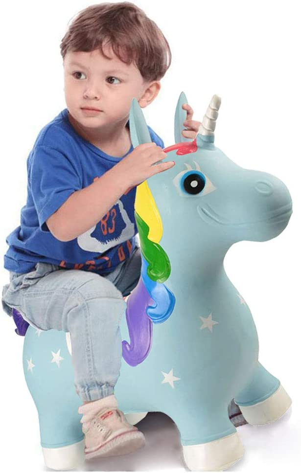 Amazon.com: bohs paseo en unicornio Bouncy hinchable Hopping ...
