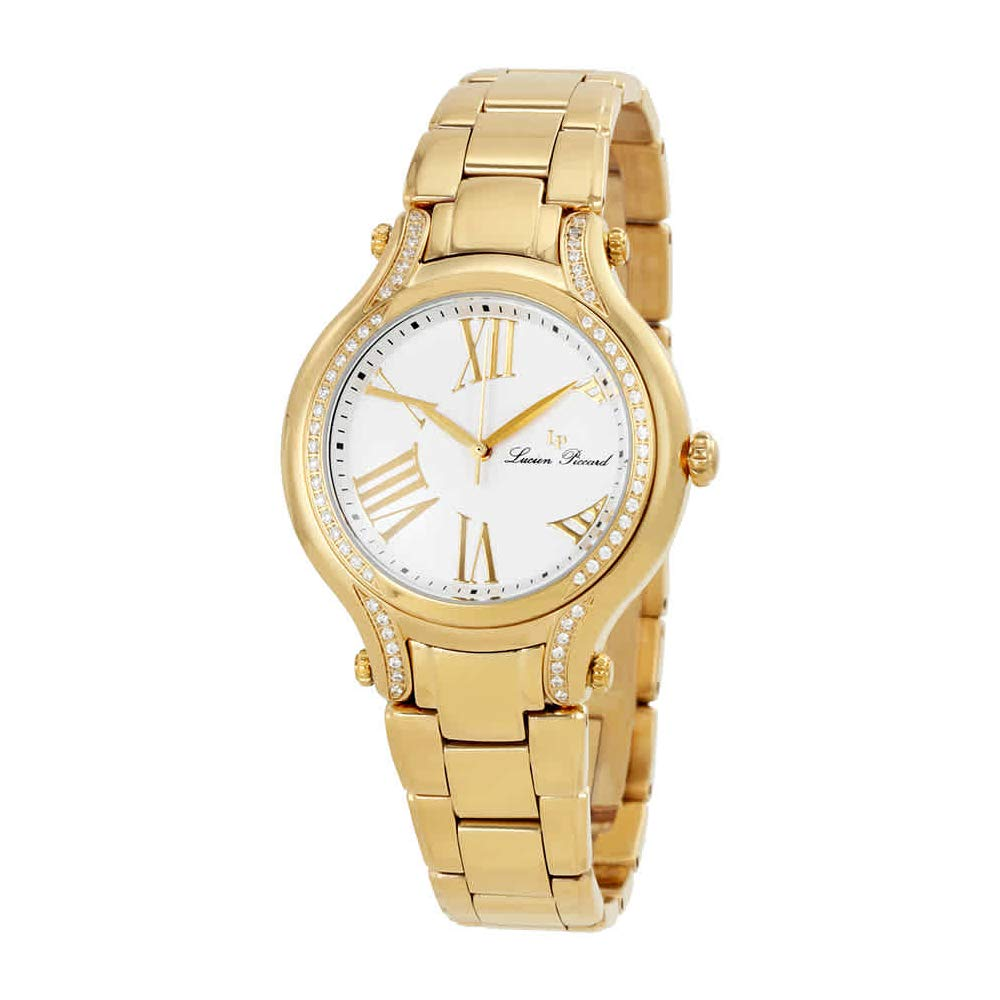Lucien Piccard Women s LP-16353-YG-22 Elisia Analog Display Quartz Gold Watch