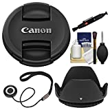 Canon E-72II 72mm Snap-On Lens Cap with Hood + CapKeeper + Cleaning Kit