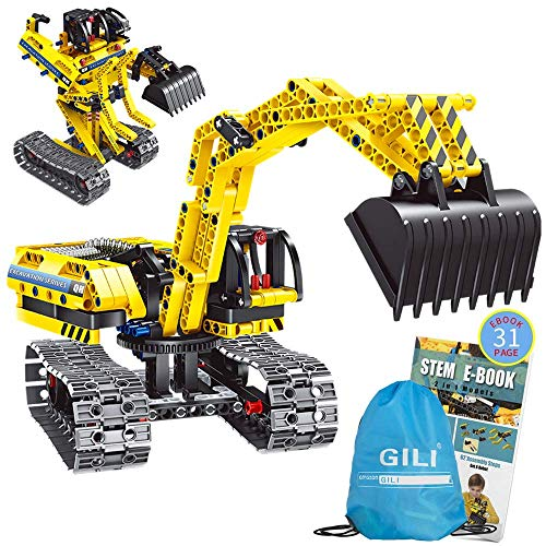 Gili Building Sets for 7, 8, 9, 10 Year Old Boys & Girls, Construction Engineering Robot Toys for Kids Age 6-12, Educational STEM Gifts for -
