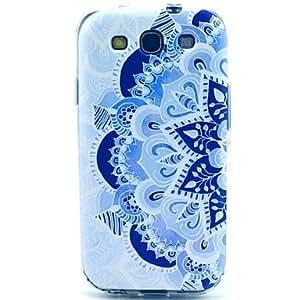WQQ caso suave del tpu porcelana azul y blanca para Samsung Galaxy S3 i9300
