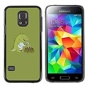 Slim Design Hard PC/Aluminum Shell Case Cover for Samsung Galaxy S5 Mini, SM-G800, NOT S5 REGULAR! Monster Cartoon Dinosaur Pastel / JUSTGO PHONE PROTECTOR