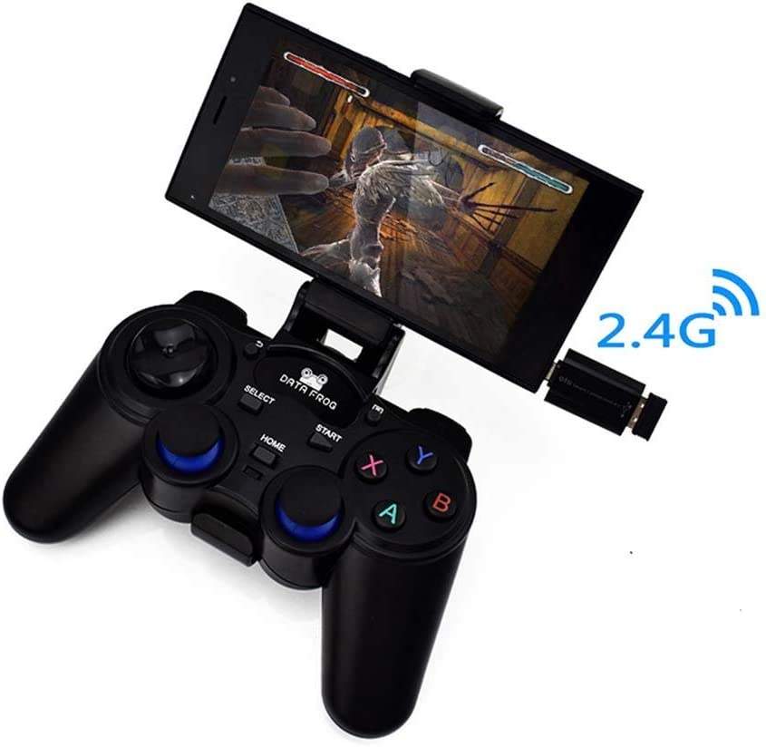 AOVOI Juego Manejar artefacto Auxiliar de agitación manija inalámbrica OTG Mano Gira para Controlador Inteligente para Pc/Android Le teléfono/Android Pad/TV Box/Smart TV/ps3 Juego: Amazon.es: Electrónica