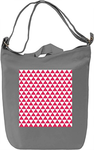 Red Triangles Print Borsa Giornaliera Canvas Canvas Day Bag| 100% Premium Cotton Canvas| DTG Printing|