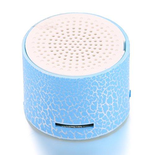 Kikole Portable LED TF Port Speaker Mini Hands Free USB Speakers