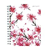 """TF Publishing 19-9225A July 2018 - June 2019 Cherry Blossoms Medium Weekly Monthly Planner, 6.5 x 8"""", Pink & Gold"""