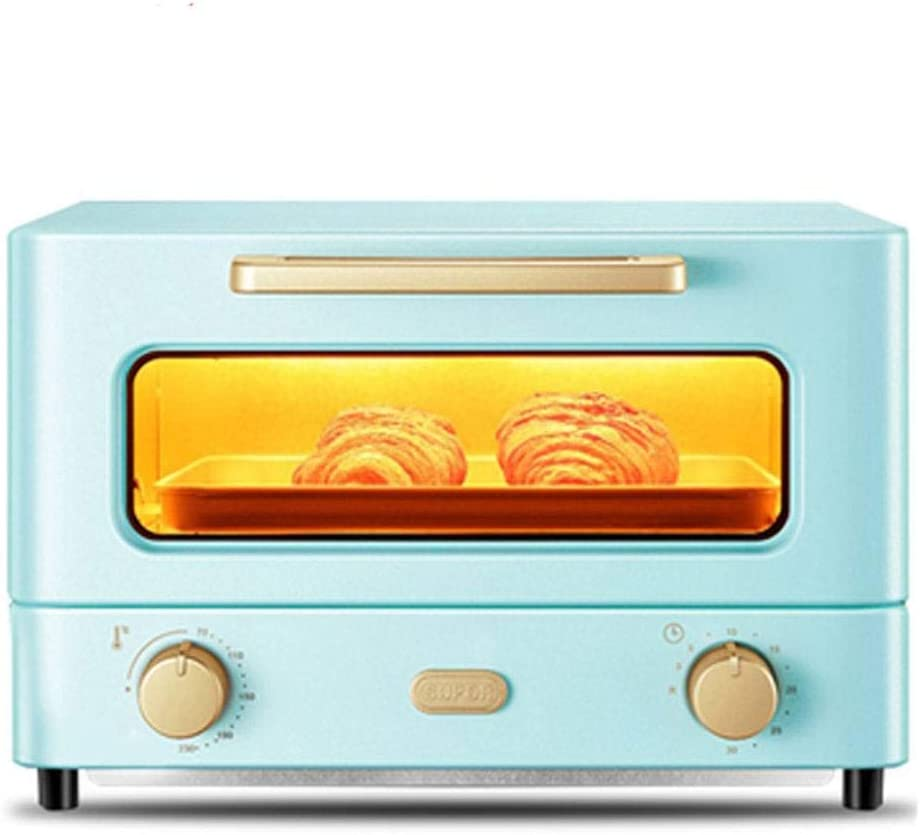 Convection Toaster Oven Explosion-Proof Glass Door 1050W Oven Mitt 13L Mini Oven Multifunctional Large-Capacity Circulating Heating