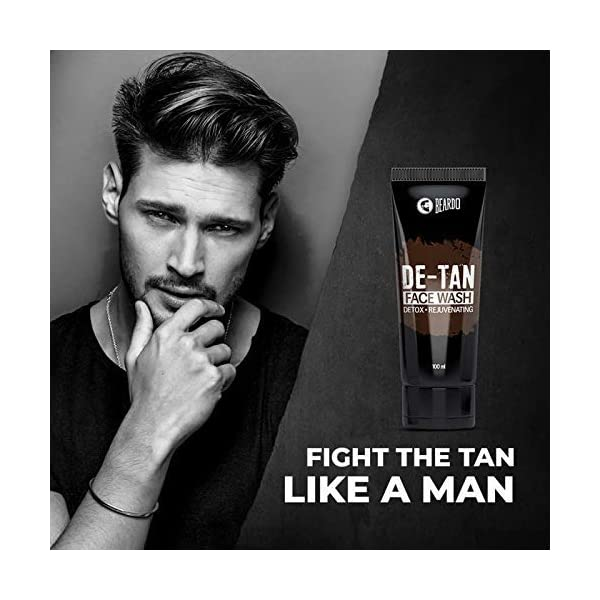 Beardo De-Tan Facewash for Men (Pack of 2) 2021 July Lightens and brightens skin Removes tan and dead cells Deep cleanses skin