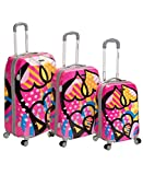 Rockland Vision Hardside Spinner Wheel Luggage, Love