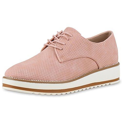 Japado - Zapatos de vestir brogues Mujer Rosa