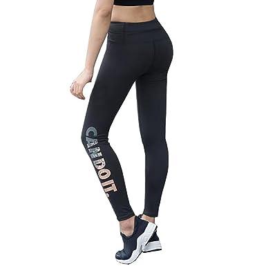 5b6e4753819a9 HOMEBABY Women Sports Gym Yoga Workout Mid Waist Running Pants Fitness  Elastic Leggings Blue: Amazon.co.uk: Clothing