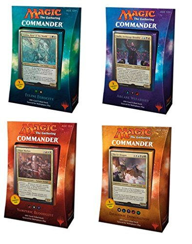 Commander 2017 MTG Magic The Gathering SET OF ALL 4 DECKS