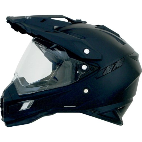 Afx Helmet (AFX FX-41DS Solid Helmet , Gender: Mens/Unisex, Helmet Type: Offroad Helmets, Helmet Category: Offroad, Distinct Name: Flat Black, Primary Color: Black, Size: Md 0110-3738)