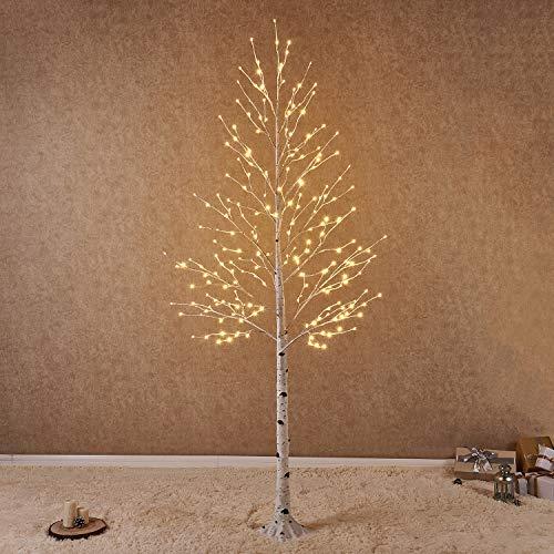 8ft Christmas Tree Pre Lit: Amazon.com: Hairui Pre Lit Birch Tree 8FT 240L For Home