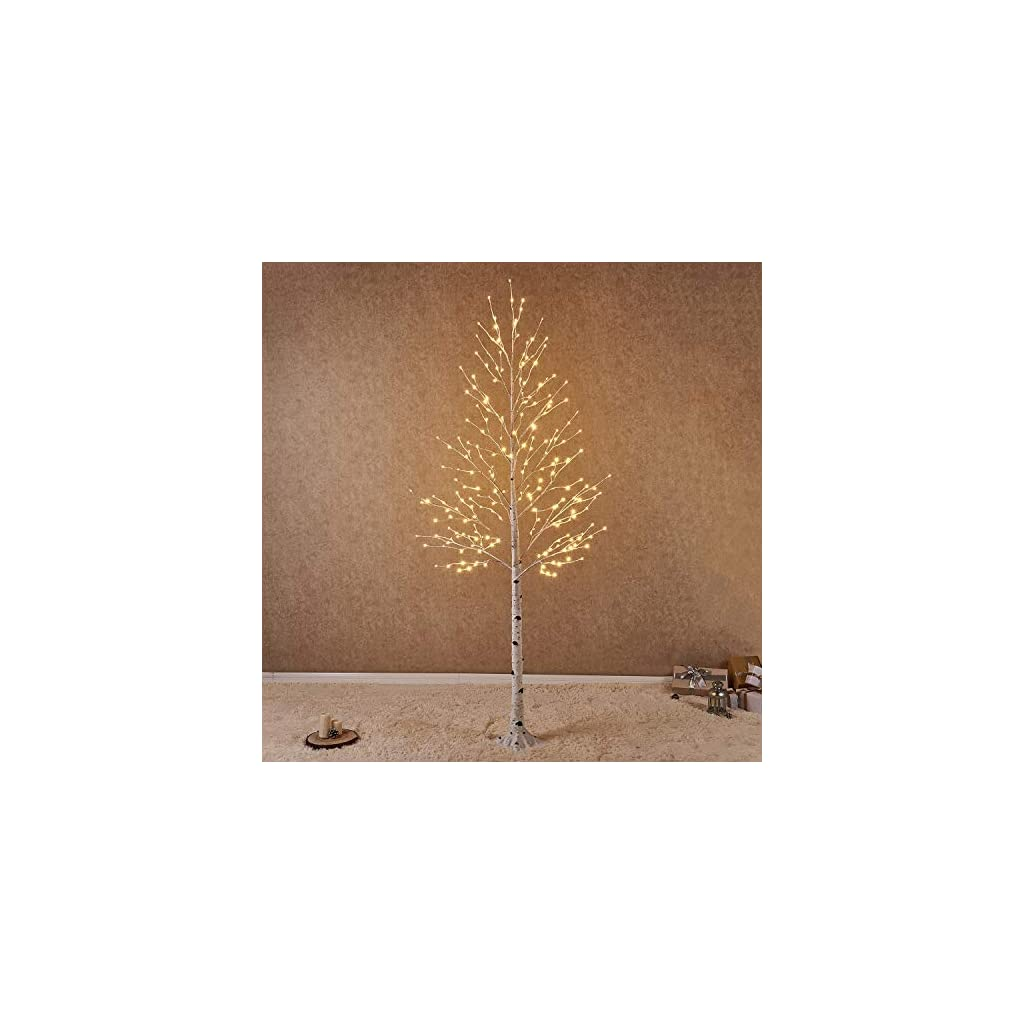Hairui-Lighted-Artificial-White-Birch-Tree-Pre-lit-Christmas-Tree-Lights-Partial-Twinkling-Warm-White-Plug-in-for-Christmas-Indoor-Outdoor-Home-Garden-Party-Wedding-Decoration
