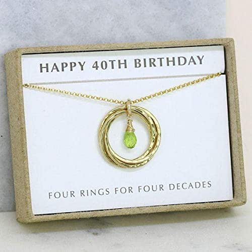Amazon.com: 40th Birthday Gifts For Women, Peridot