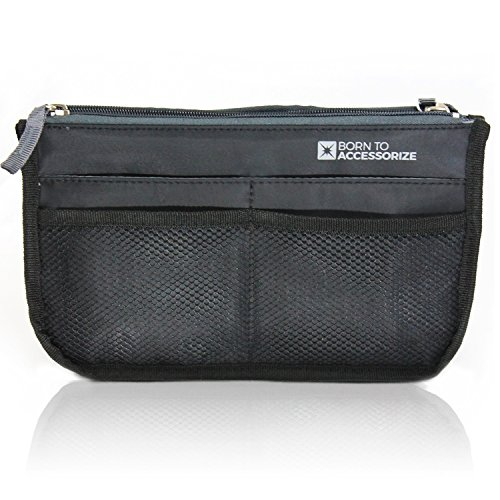 Premium Purse Organizer - Perfect Handbag Organizer Insert to Keep Your Personal Essentials Organized & Accessible - 13 Pockets - Sturdy - Durable - Stylish (M-Black) Handbag Organizer Insert