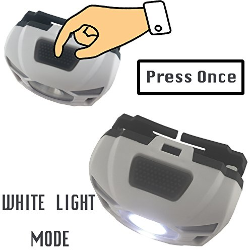 Three Trees Head Torchlight Sensor Brightest Led With Red Light Rechargeable Out