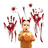 Halloween Blood Handprints Ghost House Bar Wall Stickers Window Corner Sitting Room Background Decoration