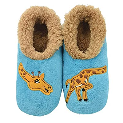 Snoozies Pairables Womens Slippers - House Slippers - Giraffe