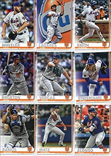 2019 Topps Series 2 Baseball New York Mets Team Set of 13 Cards: Noah Syndergaard(#359), Zack Wheeler(#371), Juan Lagares(#381), Dominic Smith(#388), Keon Broxton(#416), Jason Vargas(#418), Steven Matz(#443), Pete Alonso ROOKIE CARD (#475), Citi Field(#497), Jeurys Familia(#589), Wilson Ramos(#591), J.D. Davis(#603), Amed Rosario(#624)