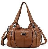 Scarleton Center Zip Shoulder Bag H147404A - Cognac