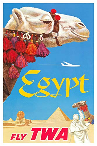 Egypt - TWA travel poster print by delovely Arts
