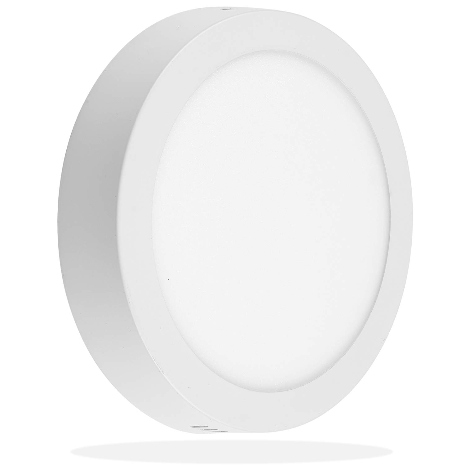 LEEKI 8.5 inch 18W LED Panel Wall Ceiling Down Light - Round - Cool White 5000K - Non-Dimmable